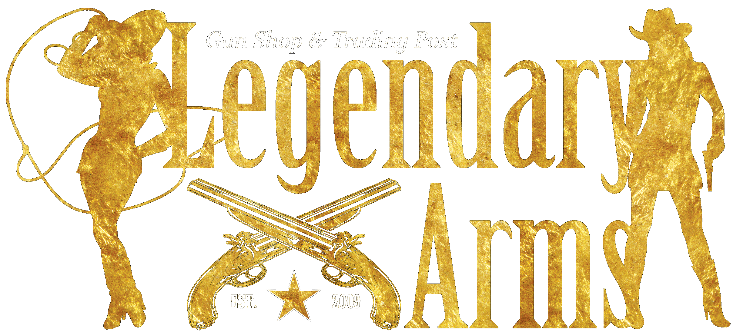 lowest bottom logo in the footer area for Southern Oregon's best firearms dealer Legendary Arms Trading Post